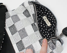 Load image into Gallery viewer, Black and Gray Checkerboard Leather Purse