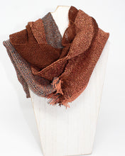 Load image into Gallery viewer, Silk Summer Weight Infinity Scarf - Burnt Umber