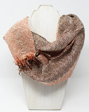 Load image into Gallery viewer, Silk and Hemp Summer Weight Infinity Scarf - Campfire