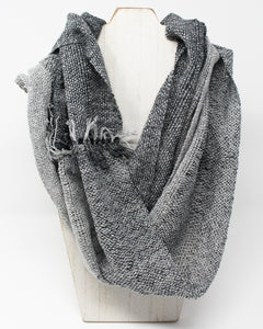 Silk Summer Weight Infinity Scarf - Gunmetal