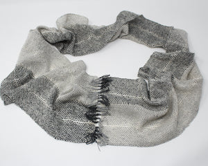 Silk and Hemp Summer Weight Infinity Scarf - Silver