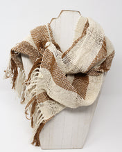 Load image into Gallery viewer, Silk Noil Infinity Scarf - Gardenia