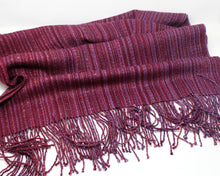 Load image into Gallery viewer, Cranberry Mélange Shawl