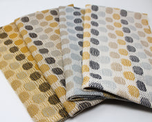 Load image into Gallery viewer, Polka Dot Kitchen Towels - Mustard and Gray
