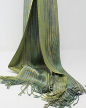 Load image into Gallery viewer, Silk Dyed Skinny Scarf - Crocus