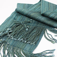Load image into Gallery viewer, Silk Dyed Skinny Scarf - Cenote