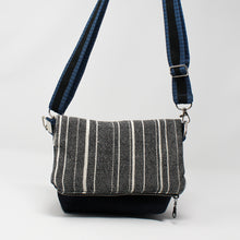 Load image into Gallery viewer, Striped Denim Folded Purse