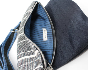 Striped Denim Folded Purse