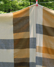 Load image into Gallery viewer, Denim & Gold Patchwork Throw Blanket