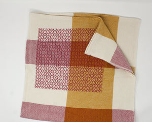 Coral Pink & Gold Patchwork Baby/Lap Blanket