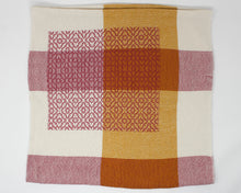 Load image into Gallery viewer, Coral Pink & Gold Patchwork Baby/Lap Blanket