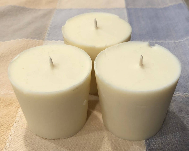 Handmade Soy with Beeswax 3 Refill candles and Candle Jar