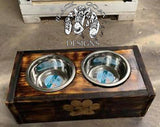 Raised Dog Feeder Dishes