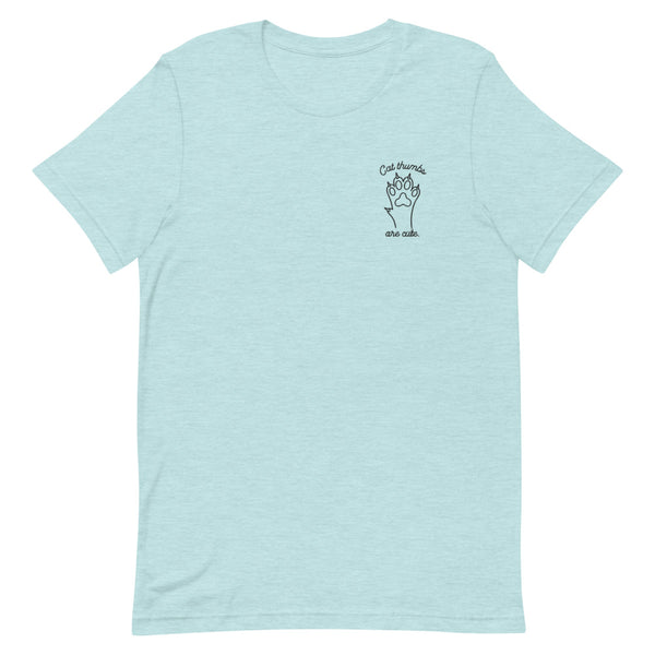 Cat Thumbs Are Cute –  Embroidered T-Shirt