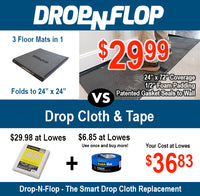 Drop-N-Flop the Smart Drop Cloth Replacement