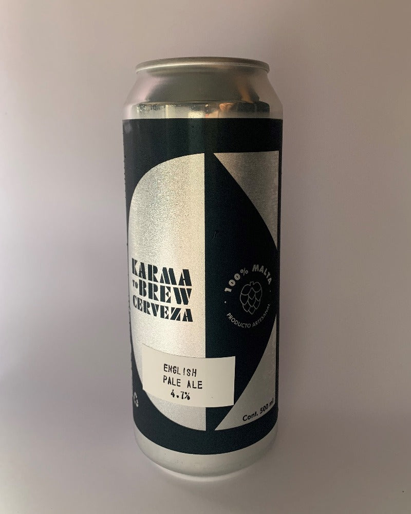 Lata 500mL cerveza artesanal estilo EPA English Pale Ale uruguay karma to brew