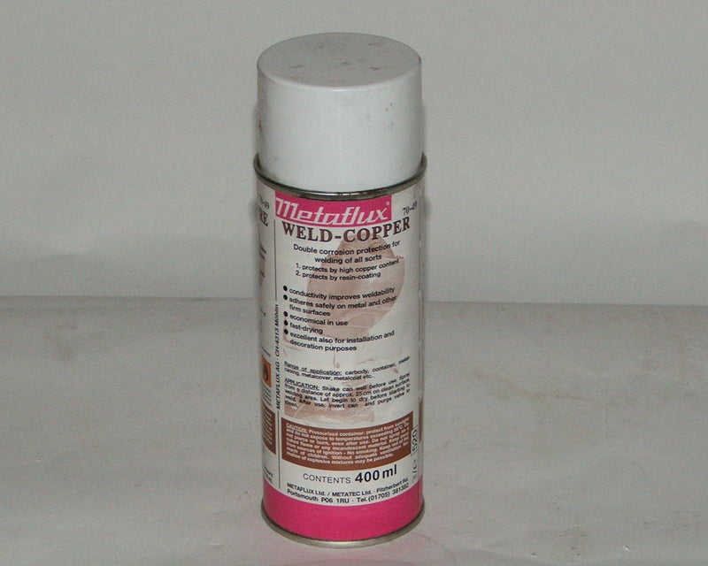 Metaflux Weld Copper spray aerosol 400ml