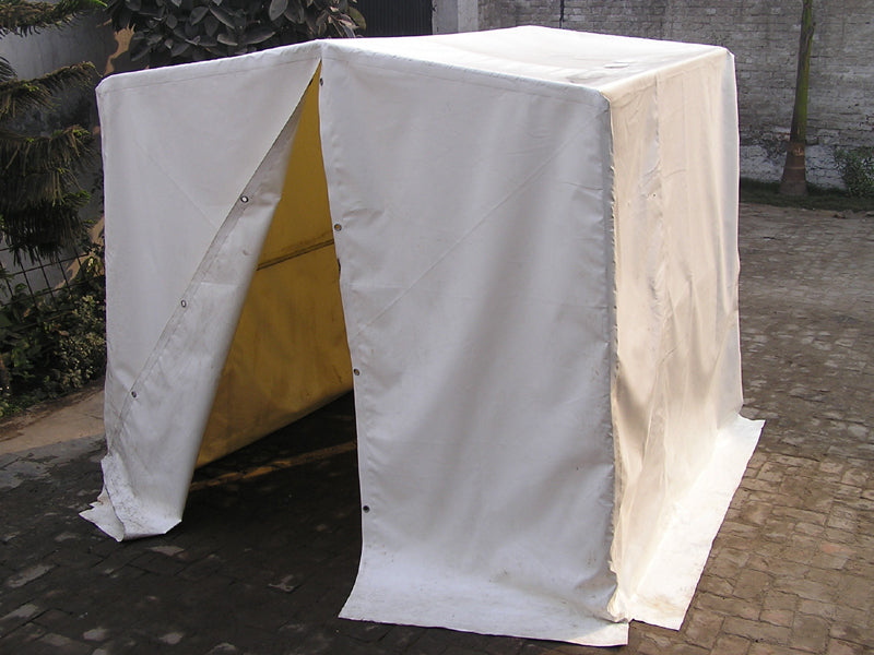 Elephant welding tent 2 x 2 x 2 mtr with steel frame & grey pvc cover