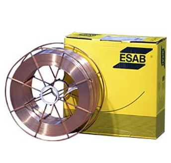 A18 ESAB G3Si1 0.8mm precision layer wound MIG welding wire (15 kg) steel basket