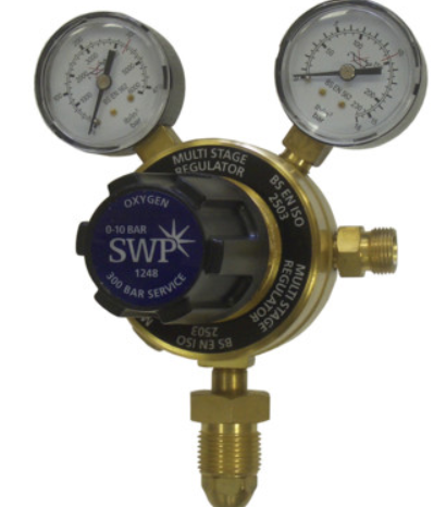 Regulator multi stage nitrogen 10 bar twin gauge
