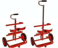 Double cylinder trolley small size Pro-Pak with extending handle