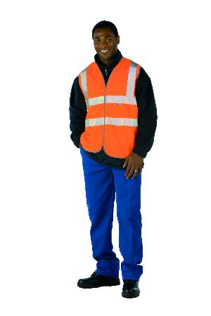 Hi-Visability orange railway velcro vest X-large #