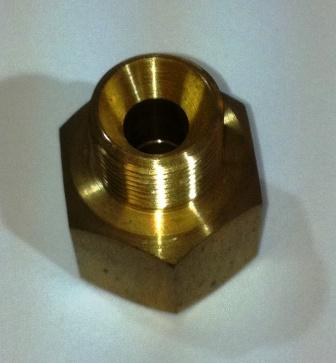 Hose coupler un-equal 10X12mm right hand 1/2 x 3/8 Bsp.