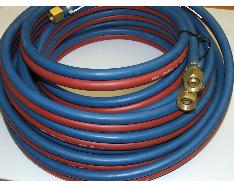 Hose set twin oxygen/acetylene 5mtr x 6.5mm dia fitted hcv 6.5mm