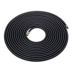 Rubber braided black hose 8.0mm bore