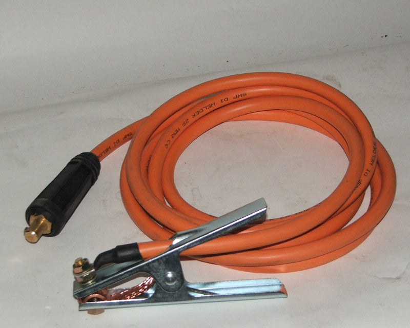 Welding cable 3 mtr 35sq mm c/w earth clamp 405 & std dinse plug