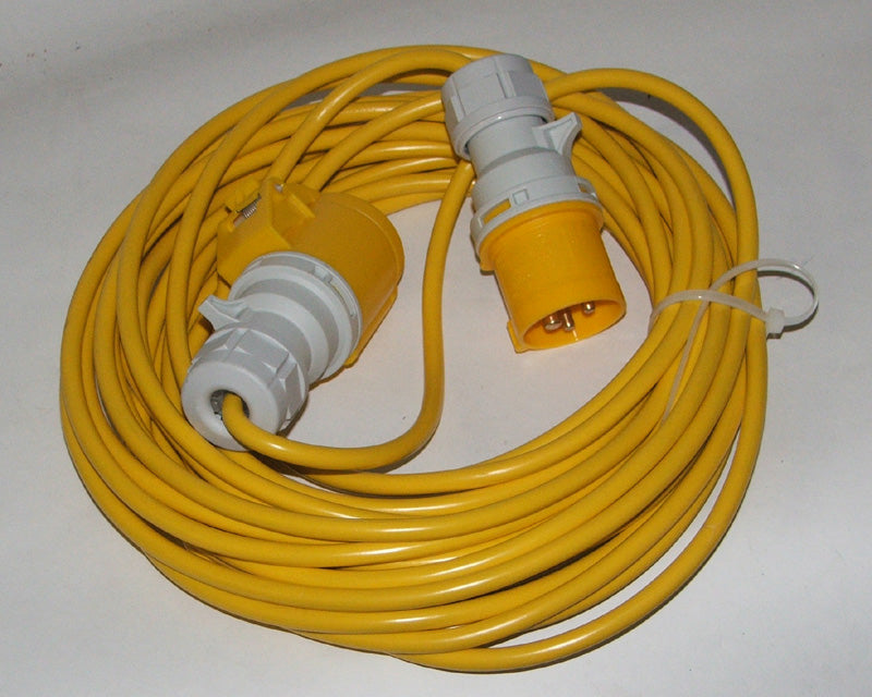 Extension lead 110 volt x 14 mtr 1.5mm 16 amp plug & socket