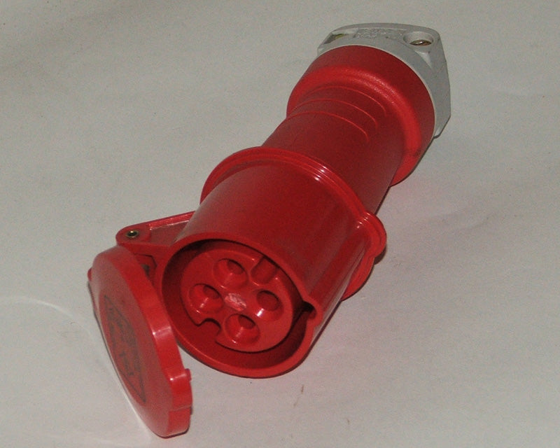Socket 415 volt 4 pin 16 amp red Gw415/16/4C
