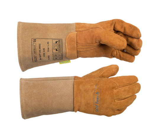 Welders TIG gauntlet/glove pig skin soft tan Weldas 10-1003XXL high quality