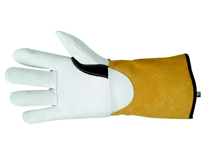 Welders TIG gauntlet/glove superior white supple hide leather