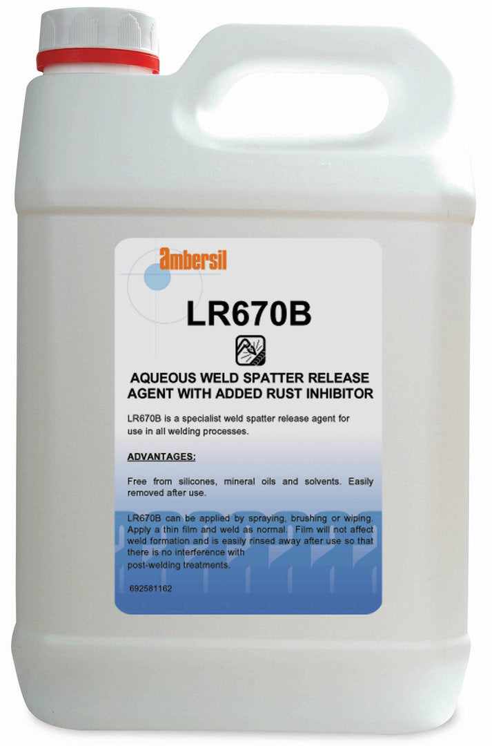 Ambersil LR670B MIG Anti-Spatter 5 litre water based