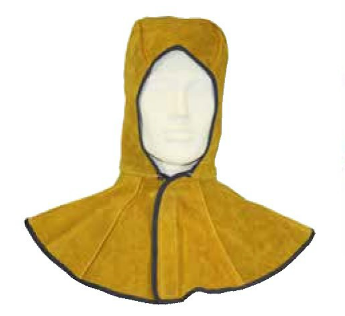 Welders hood premium leather with shoulder cape