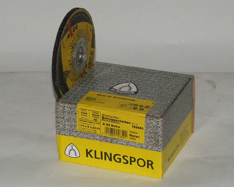 Grinding disc 115 x 6 x 22mm depressed centre Klingspor A24 extra 188465