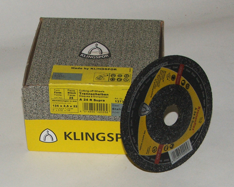 Stone cutting disc 125 x 2.5 x 22mm depressed centre Klingspor C24 188464