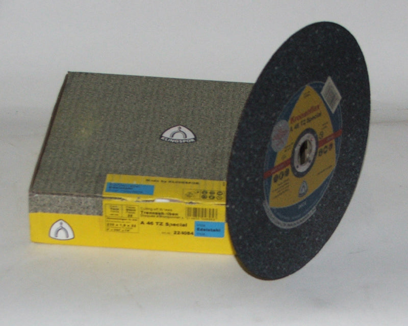 Cutting disc 230 x 1.9 x 22mm flat Klingspor A46TZ 224084 (use with support flange)