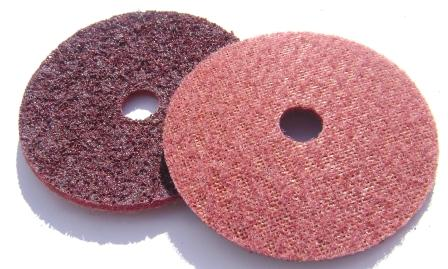 Surface conditioning disc 100 x 16mm hole laminated backed medium maroon