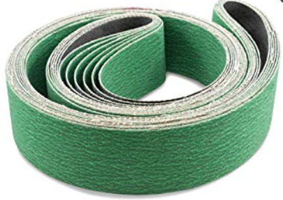 Linishing belt 2000 x 75mm wide grit P36 zirconia green AFS HZ72/36/2000x75