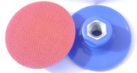 Soft backing pad 75mm for Trizact discs M14 rubber velcro VEL/VZ