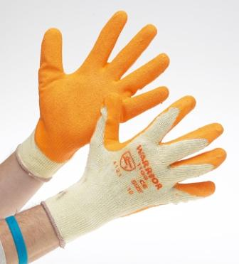 Glove Latex yellow / orange builders glove size 09