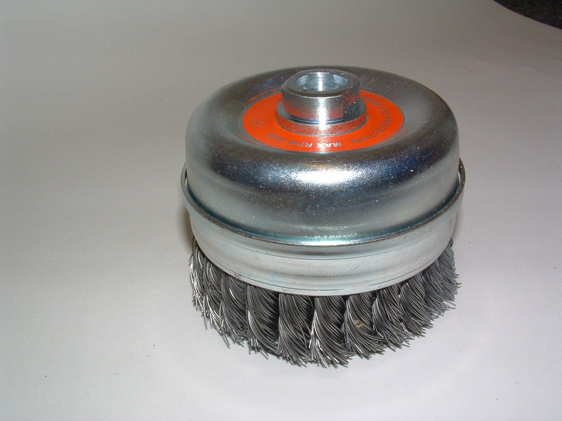 Wire brush 100mm dia. x M14 twist knot cup 92031317