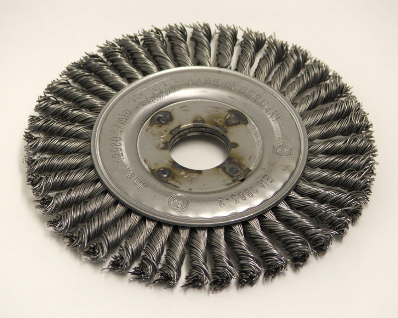 Wire brush 125mm dia. x 22mm hole pipeline 6mm wide 99023287