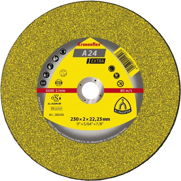 Cutting disc 230 x 3.0 x 22mm flat Klingspor A24 extra 13492