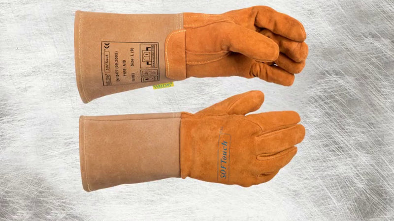 Welders TIG gauntlet/glove pig skin soft tan Weldas 10-1003M high quality