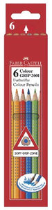 Faber Castell® Buntstifte Colour Grip 6er-Etui