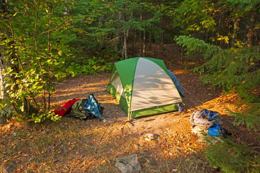 Tent in the BWCA Wilderness