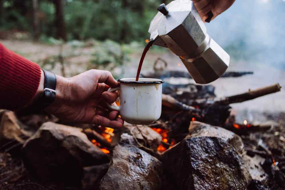 coffee process on the campfire